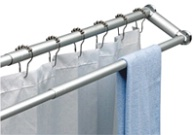 DUO SHOWER CURTAIN ROD AND TOWEL RACK