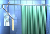 DUO SHOWER CURTAIN ROD & FUNCTIONAL RACK